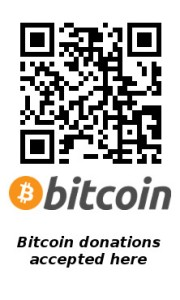 Bitcoin donations and payments accepted